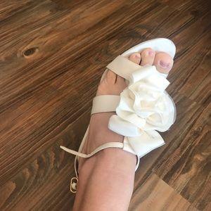 Nina ivory/white heels.